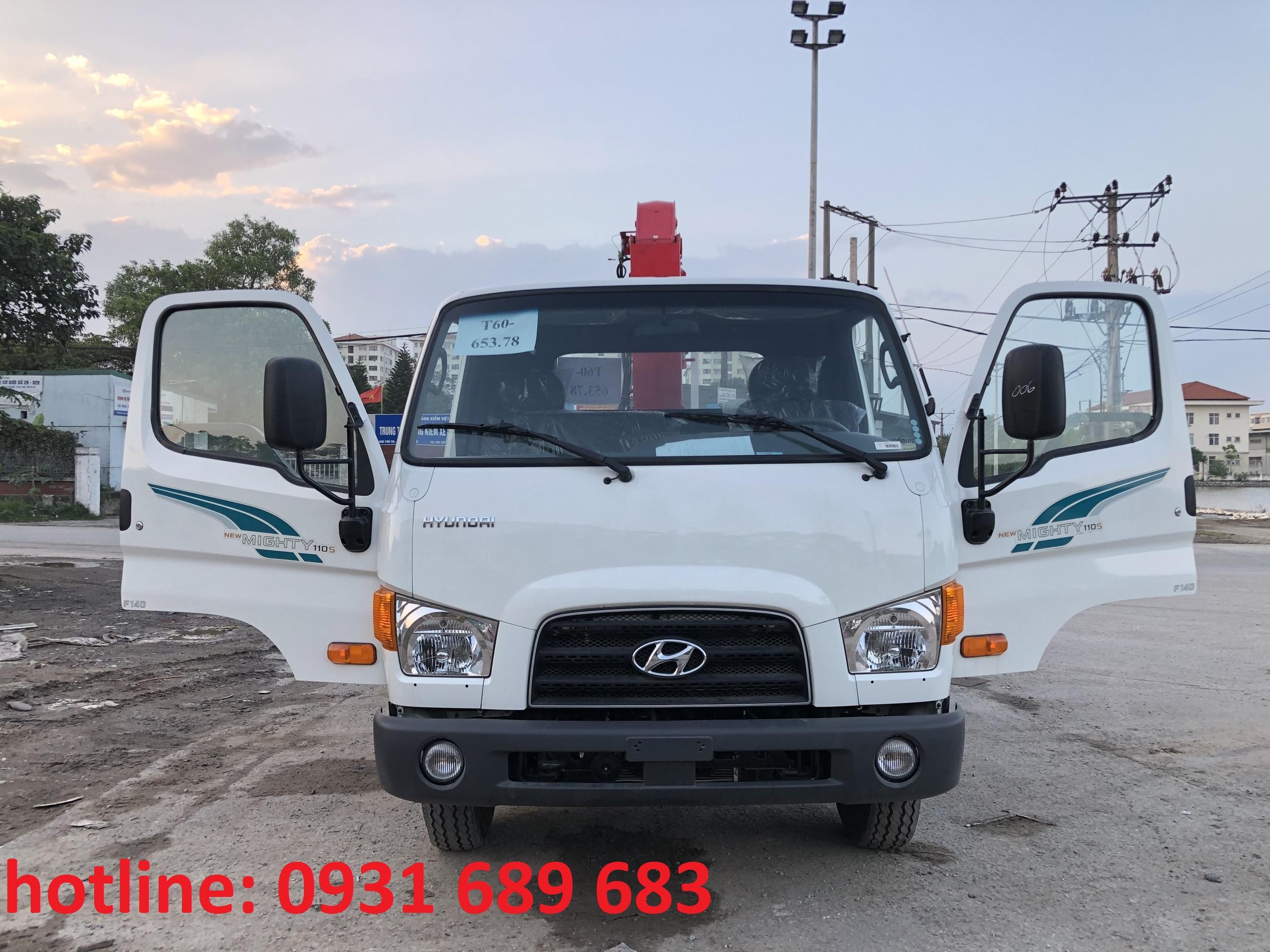 xe tải hyundai 110s gắn cẩu