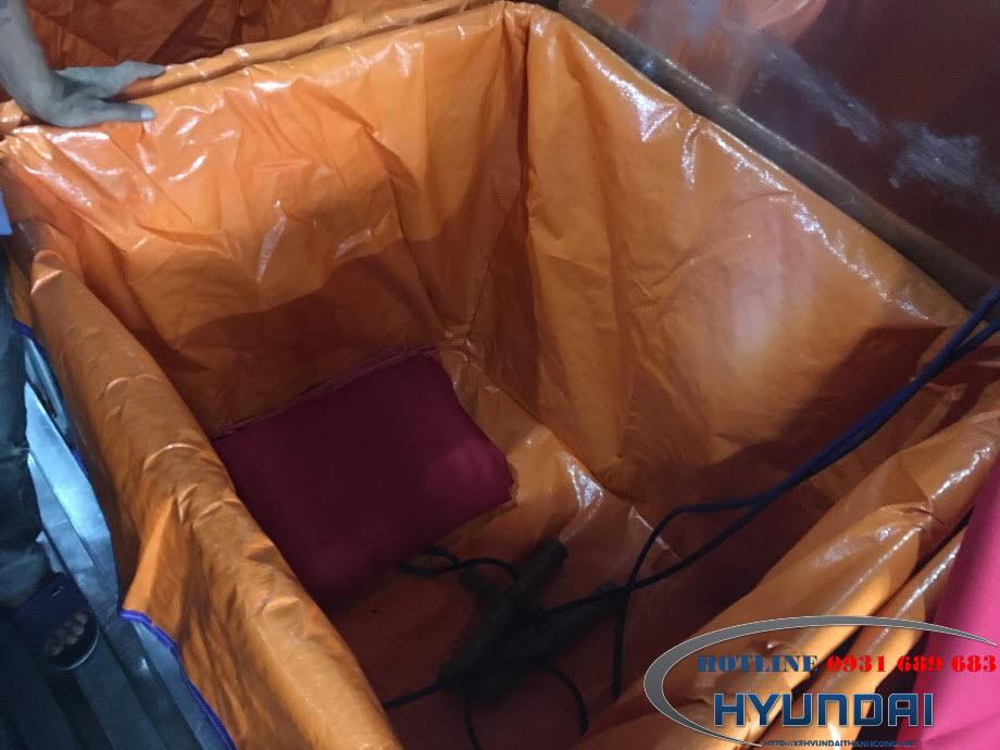 Hyundai 110S thùng chở cá