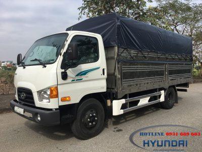 Giá xe tải chở cá Hyundai 110S Thùng Bạt INOX