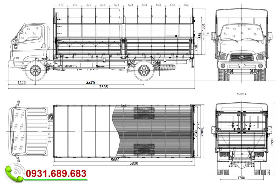 Hyundai 110SL thùng bạt