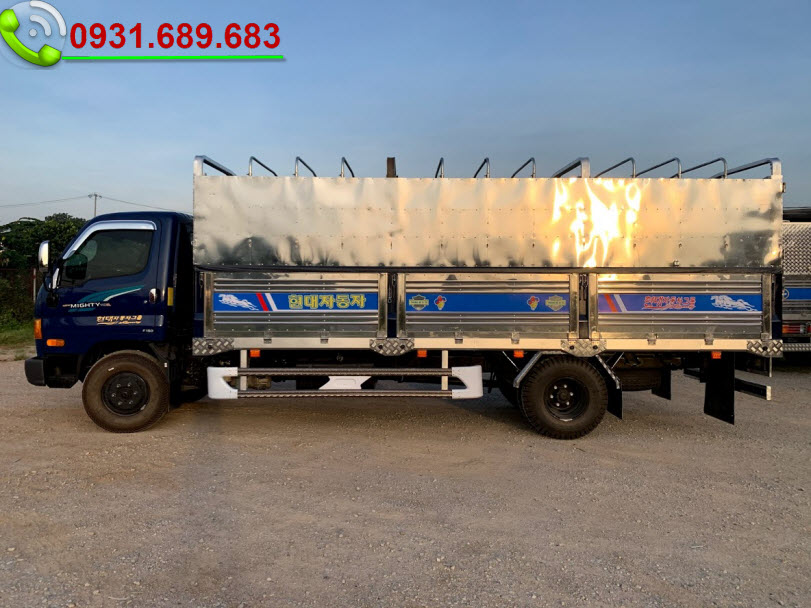 Xe tải 110SL thùng bạt inox