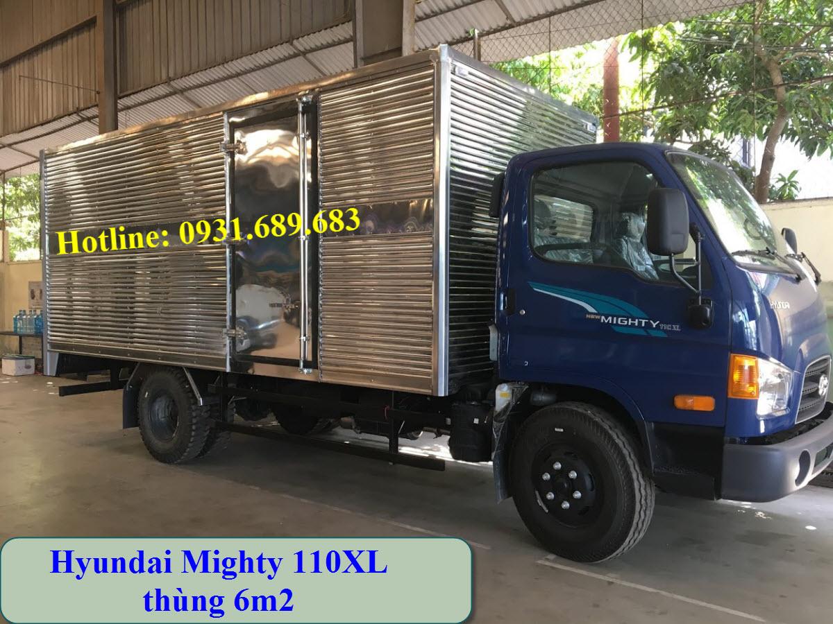 Xe tải Hyundai 110XL thùng kín