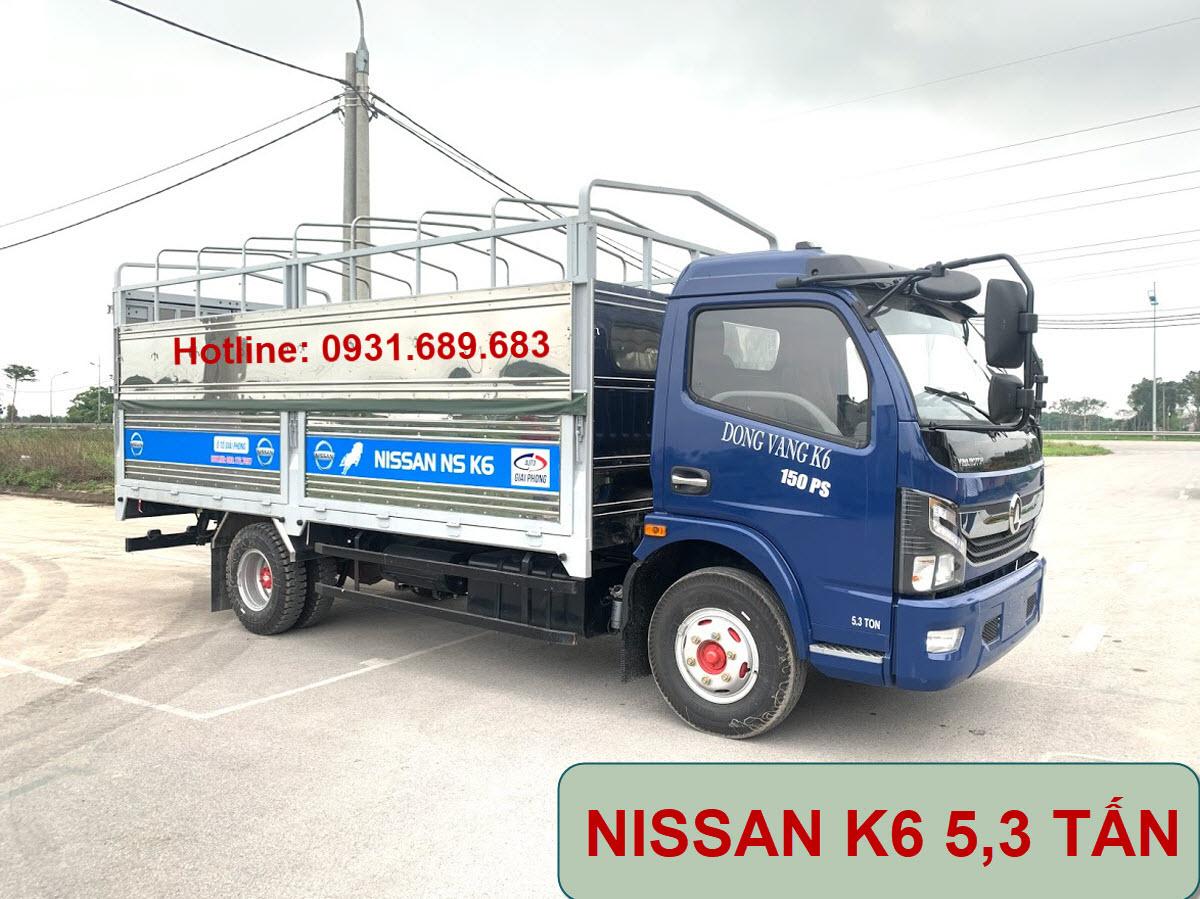 xe tải k6 5 tấn thùng mui bạt