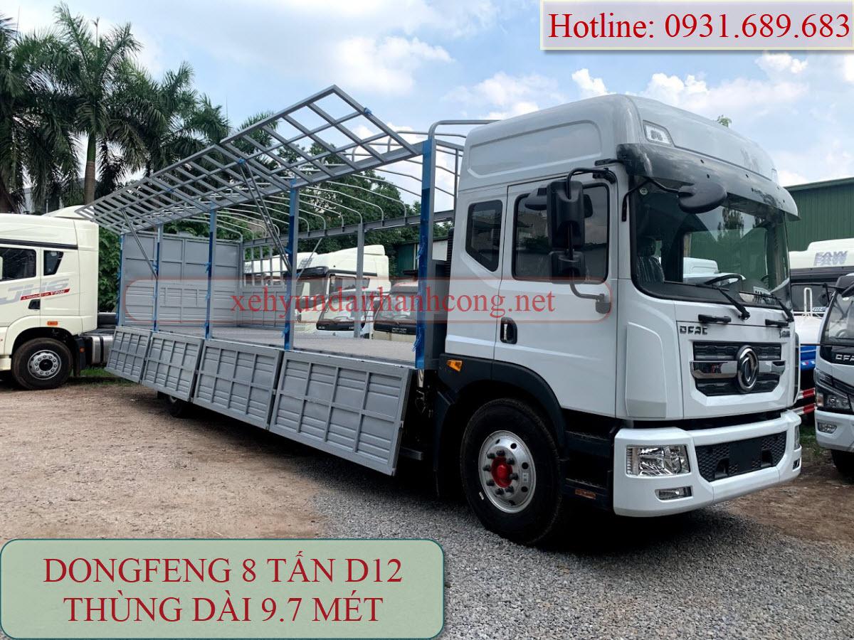 Xe tải 8 tấn Dongfeng D12 thùng dài 9.7 mét