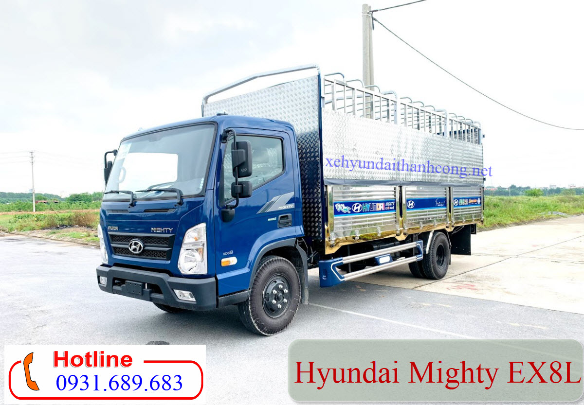 Hyundai ex8l thùng inox