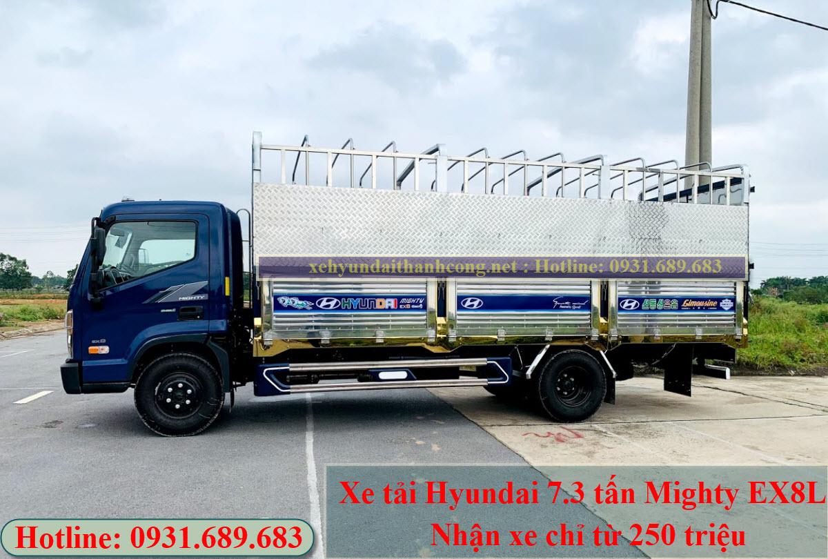 Hyundai Mighty Ex8L thùng inox