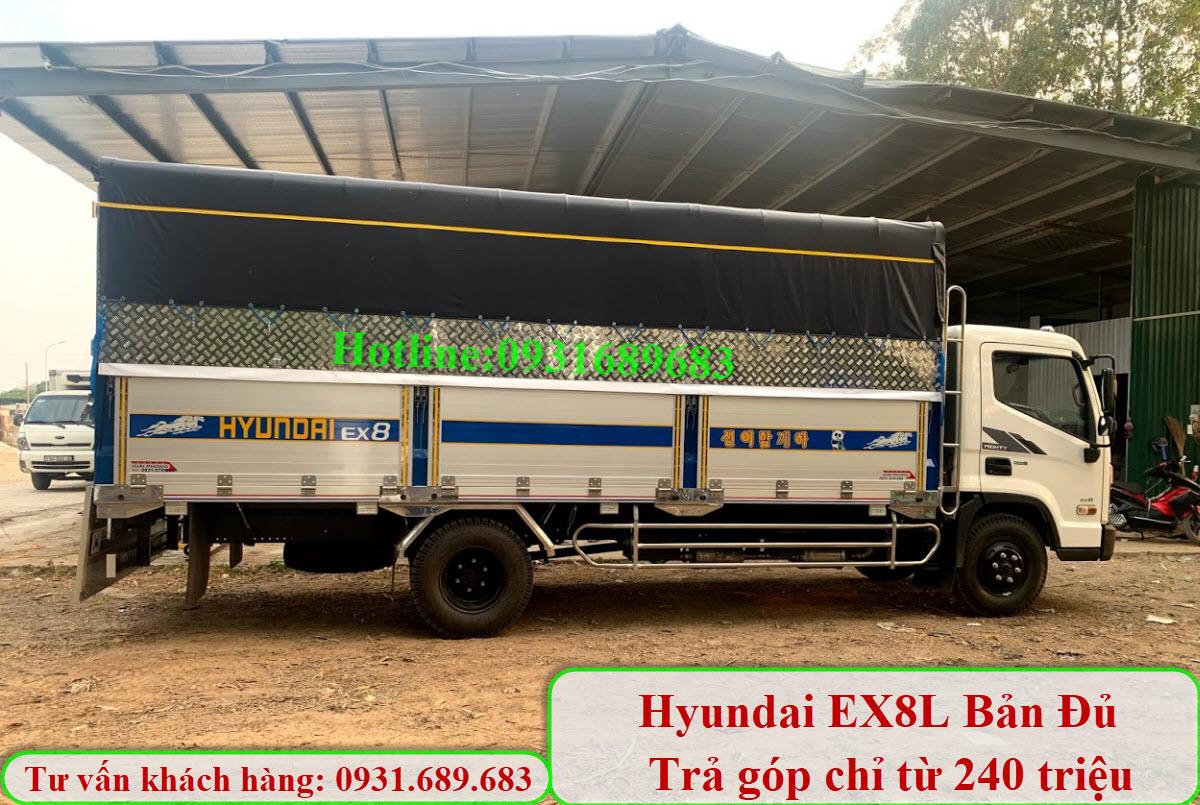 Hyundai Mighty Ex8L thùng nhôm
