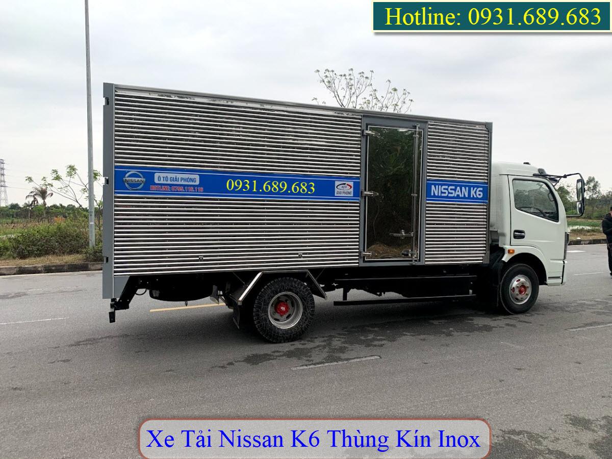 xe tải nissan k6 thùng kín